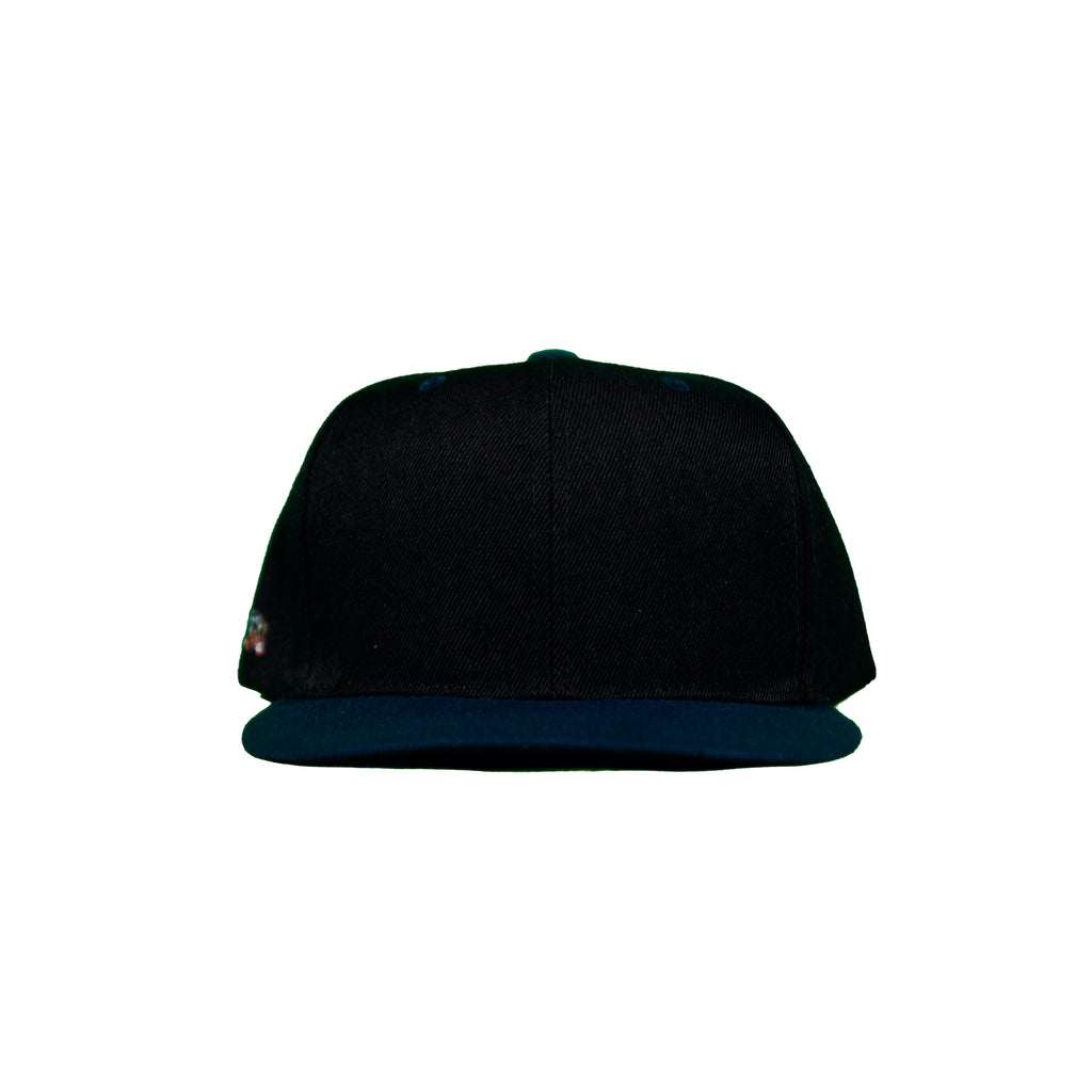 Basic Two-Tone Snap Back in Black And Navy