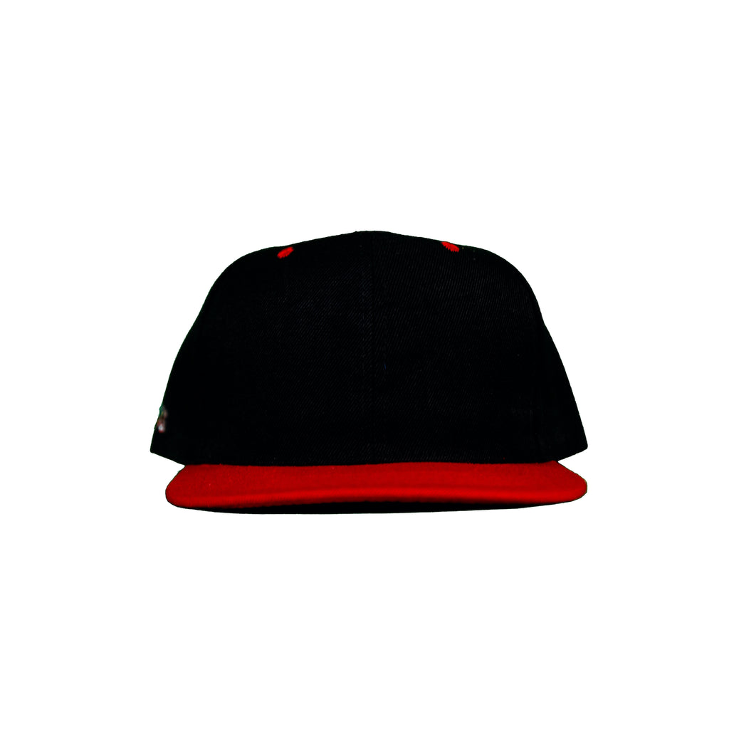 Basic Two-Tone Snap Back in Black And Red