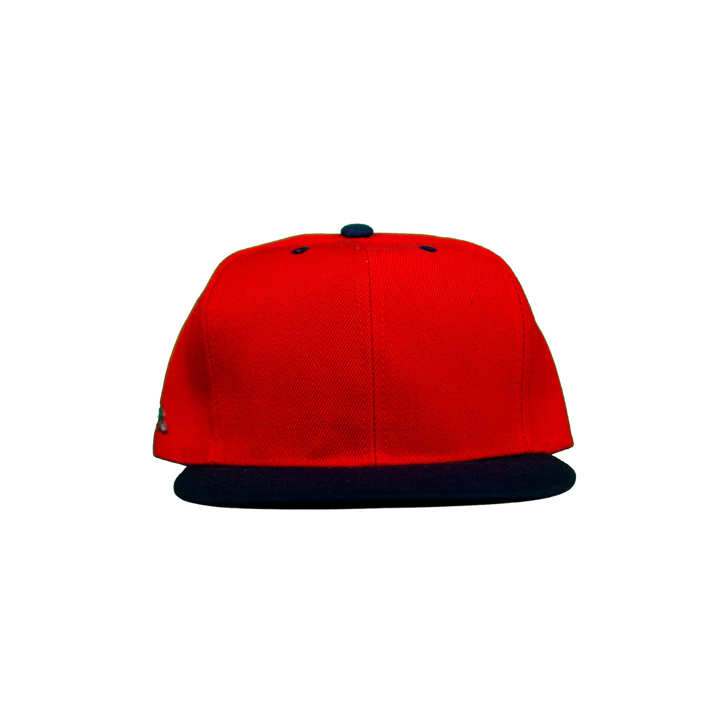 Basic Two-Tone Snap Back in Red And Black