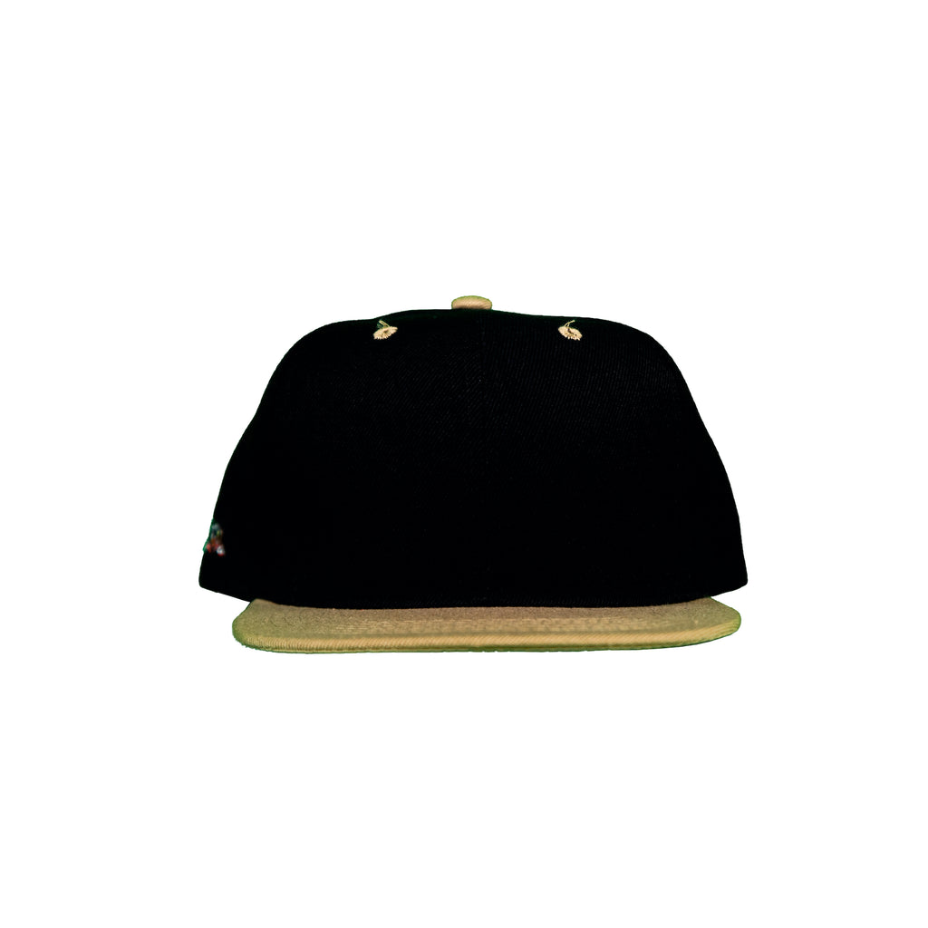Basic Two-Tone Snap Back in Black And Saints Gold