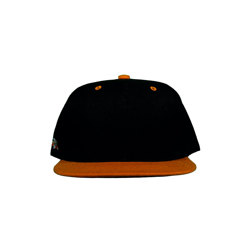 Basic Two-Tone Snap Back in Black And Burnt Orange