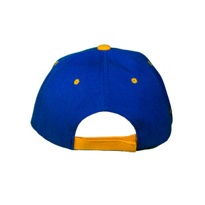 Basic Two-Tone Velcro Back Royal And Gold