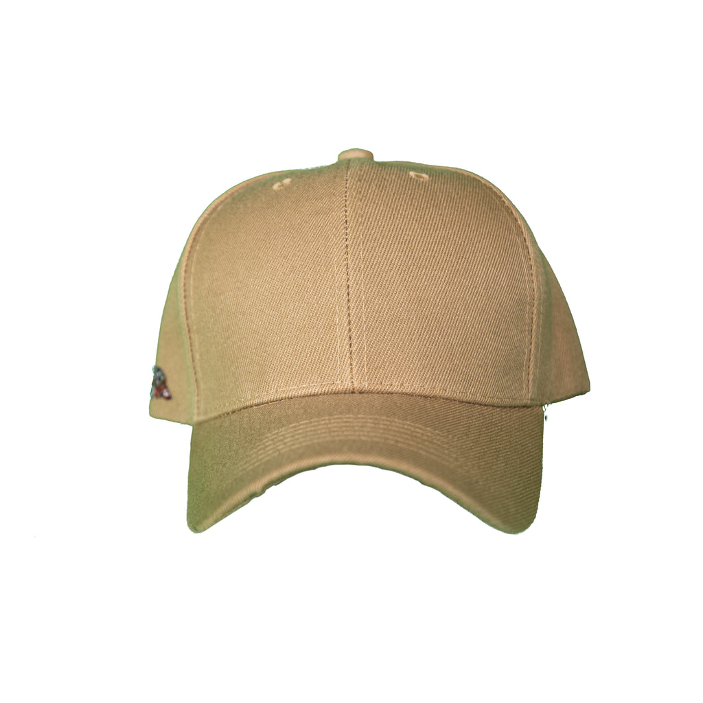 Basic Solid Pre-Bent Snap Back in Tan