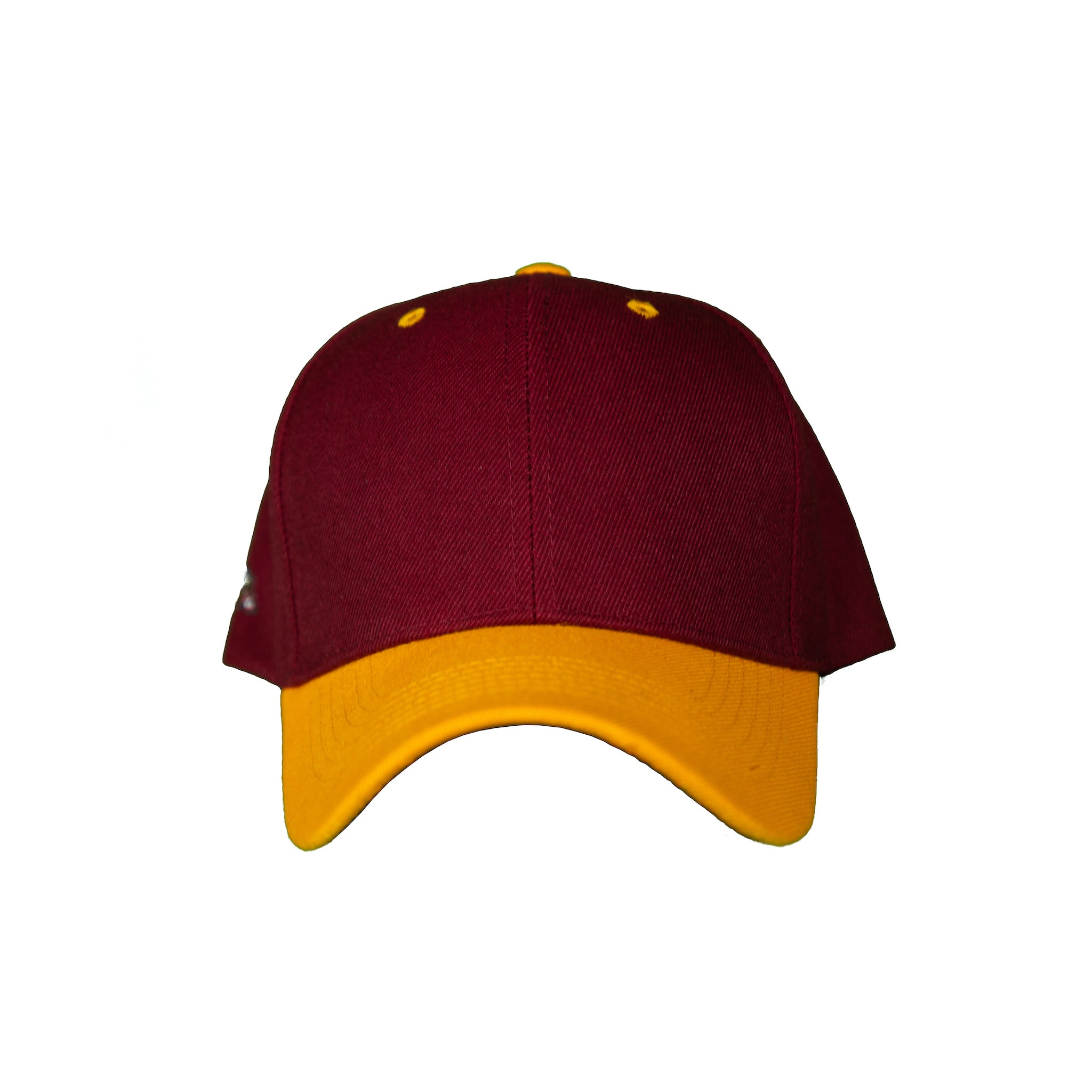 Basic Two-Tone Velcro Back in Maroon And Gold