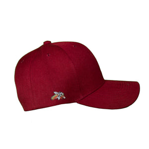 Basic Solid Pre-Bent Snap Back in Maroon