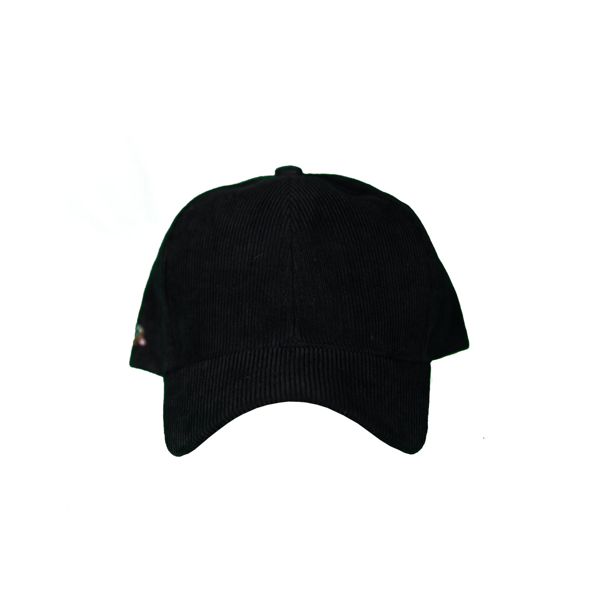 Basic Solid Cord Pre-Bent Snap Back in Black