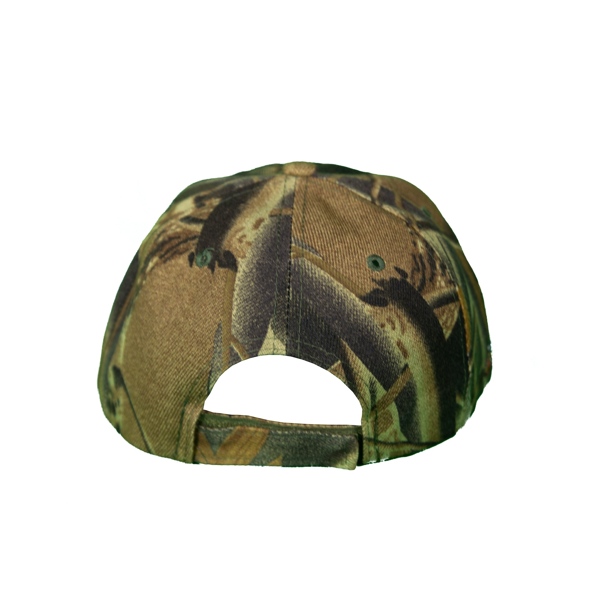Basic Solid Velcro Back in Green Camouflage