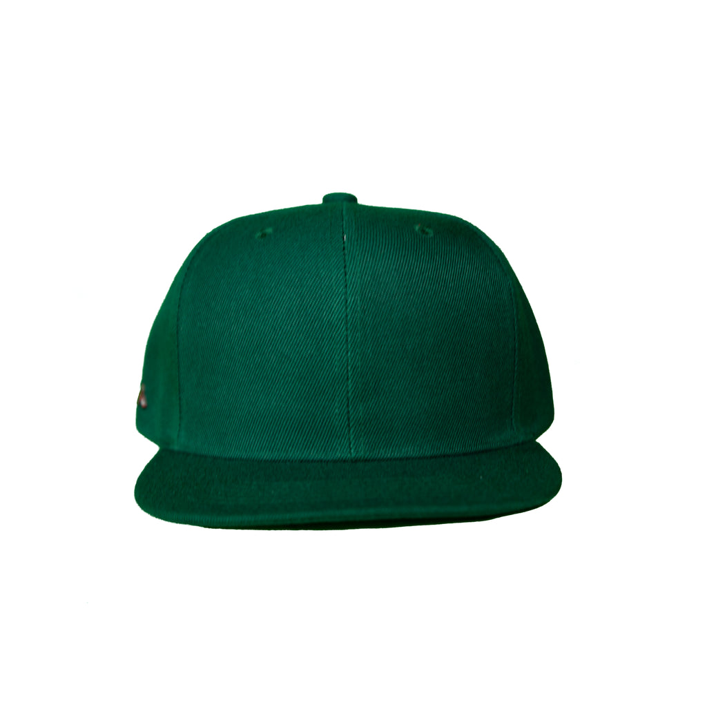 Basic Solid Snap Back in Forest Green