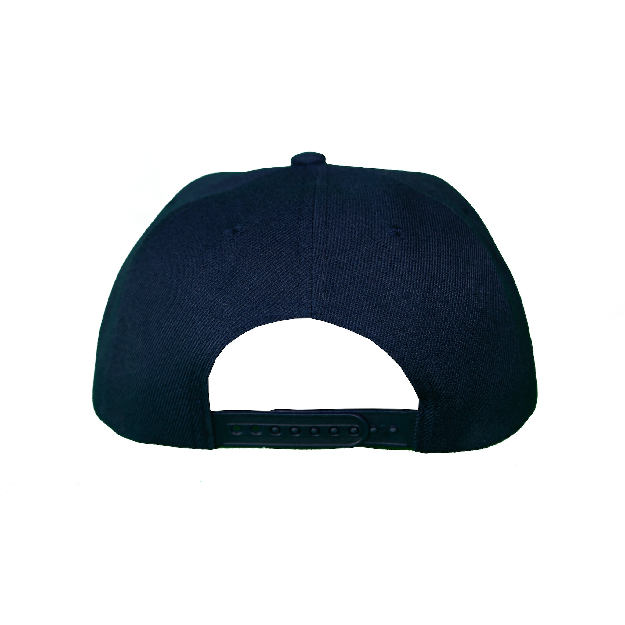 Basic Solid Pre-Bent Snap Back in Navy