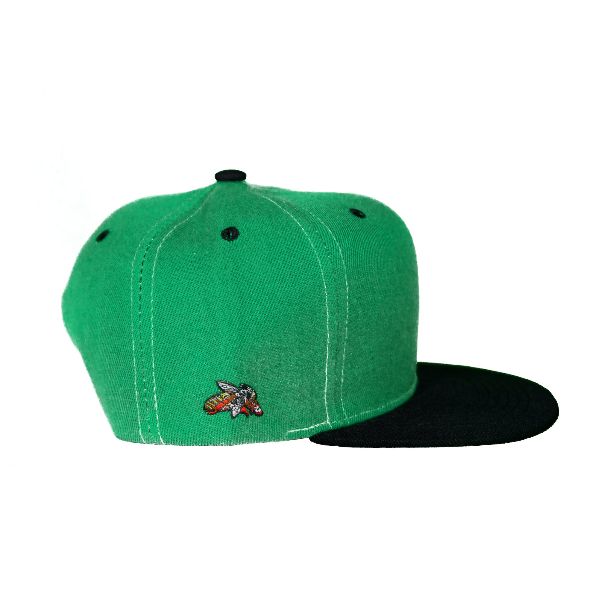 Basic Two-Tone Snap Back in Green and Black