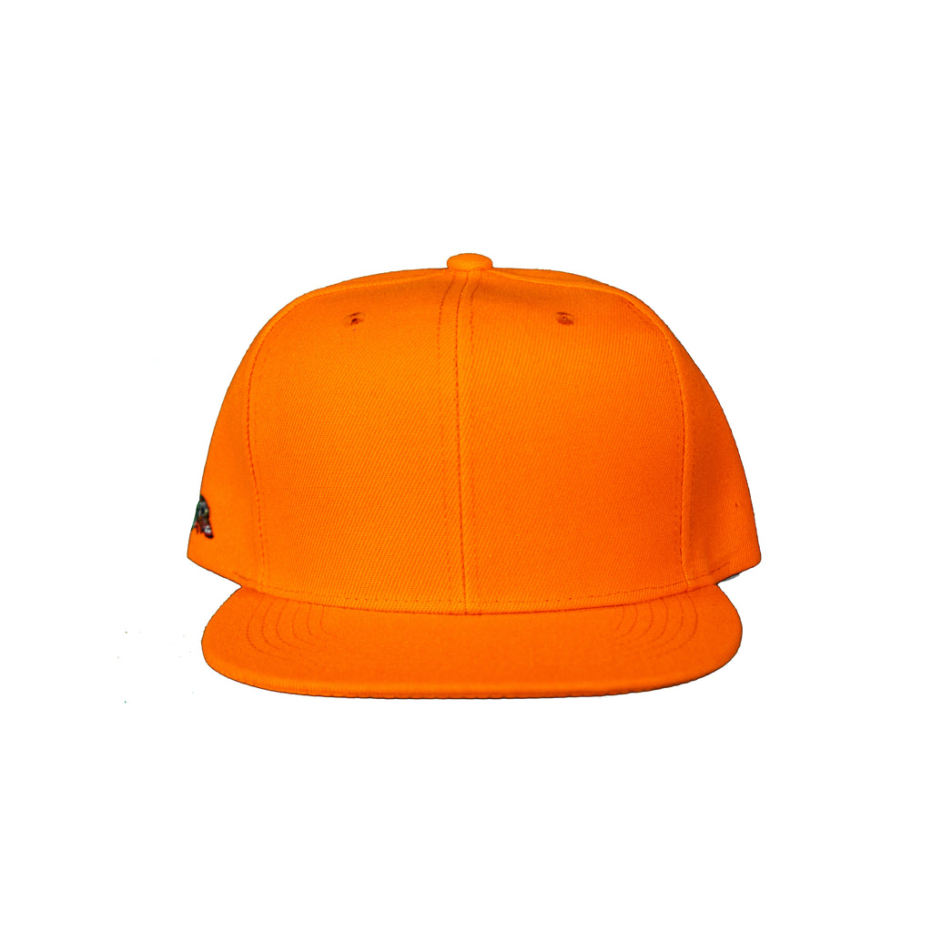 Basic Solid Snap Back in Orange