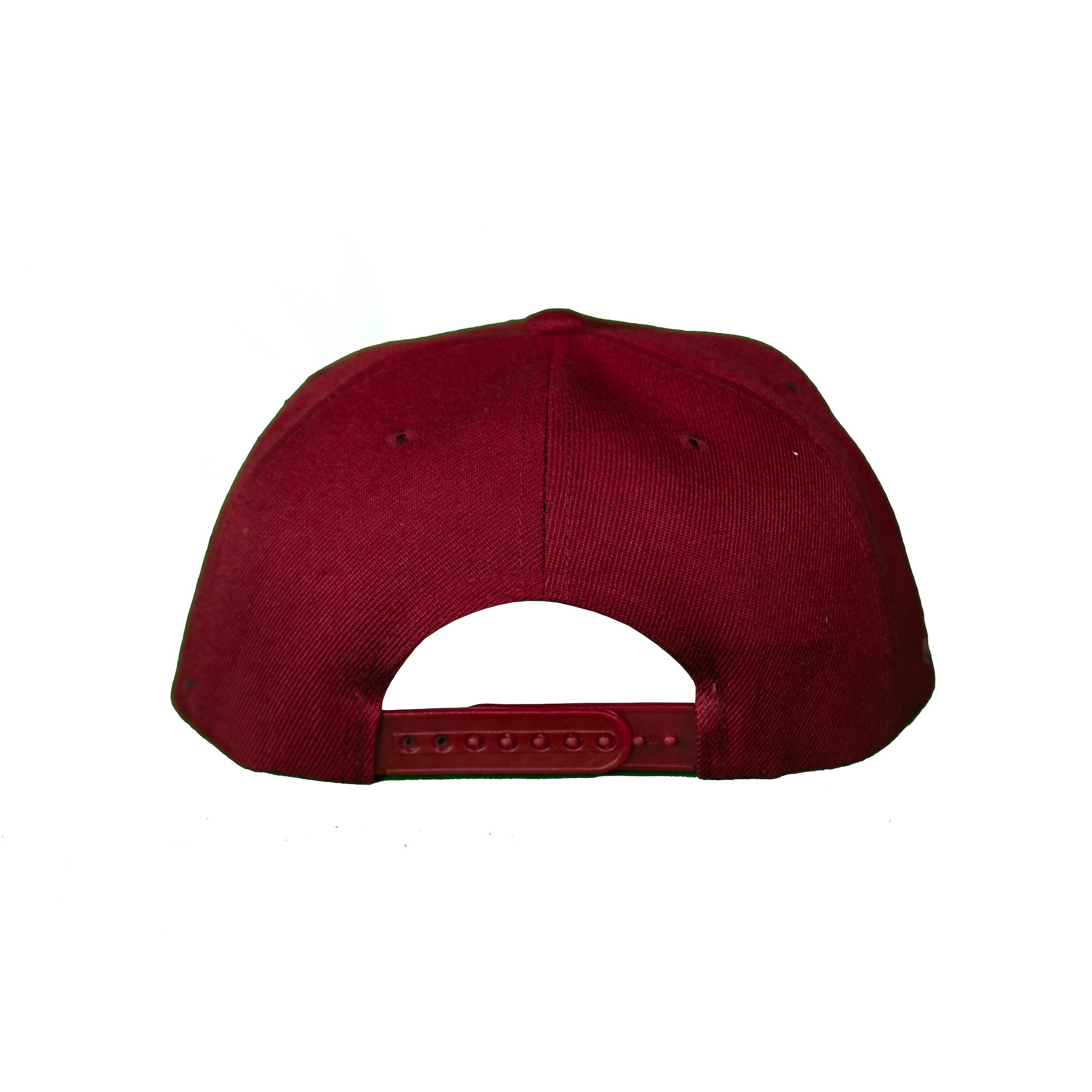 Basic Solid Snap Back in Maroon