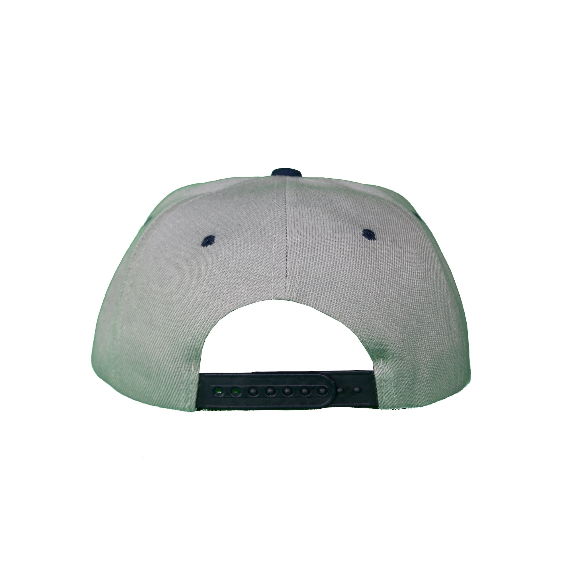 Basic Two-Tone Snap Back Gray and Navy