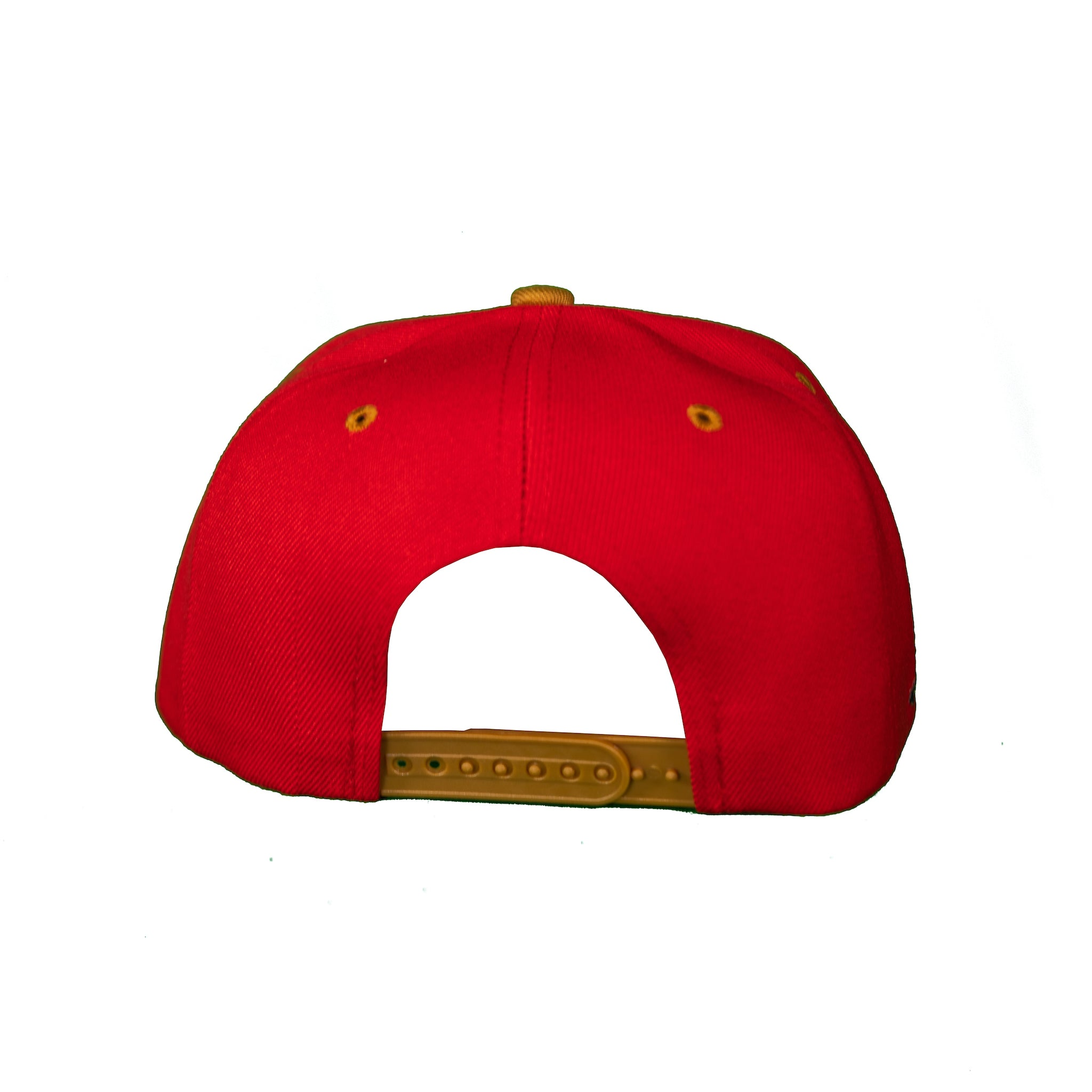 Basic Two-Tone Snap Back in Red and Gold
