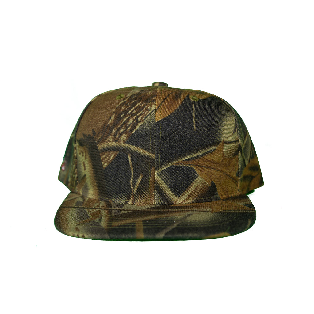 Basic Solid Snap Back Green Camouflage
