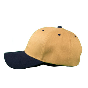 Basic Two-Tone Velcro Back in Tan And Navy