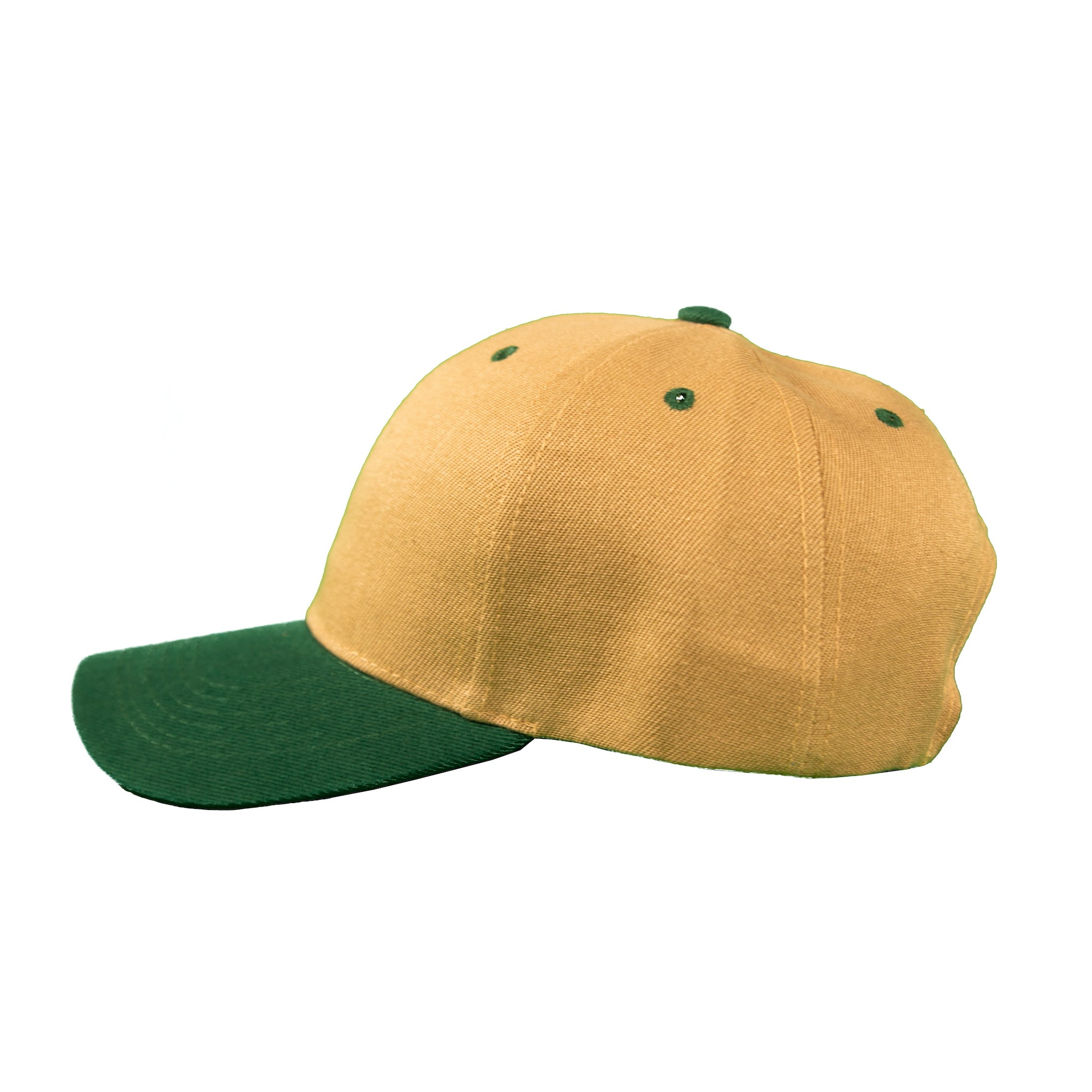 Basic Two-Tone Velcro Back in Tan And Green