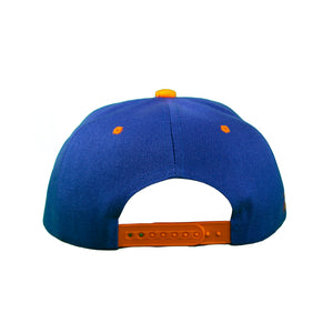 Basic Two-Tone Snap Back in Royal And Orange