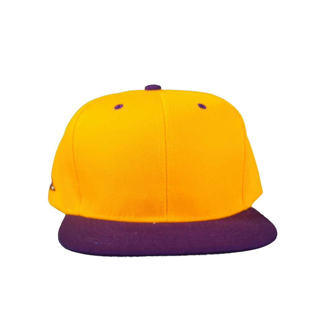 Basic Two-Tone Snap Back in Gold And Purple