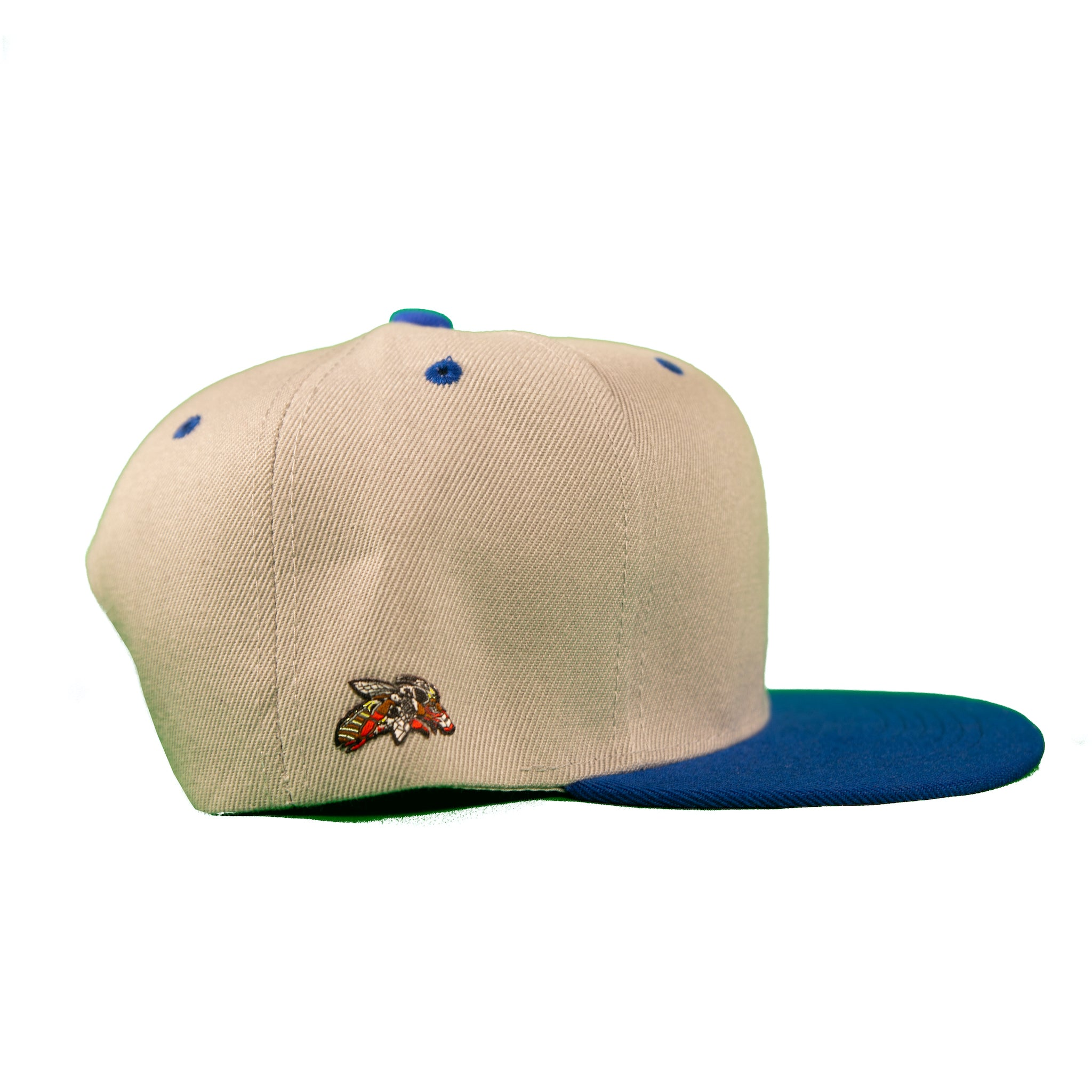 Basic Two-Tone Snap Back in Grey And Royal