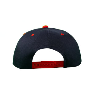Basic Two-Tone Snap Back in Navy And Red