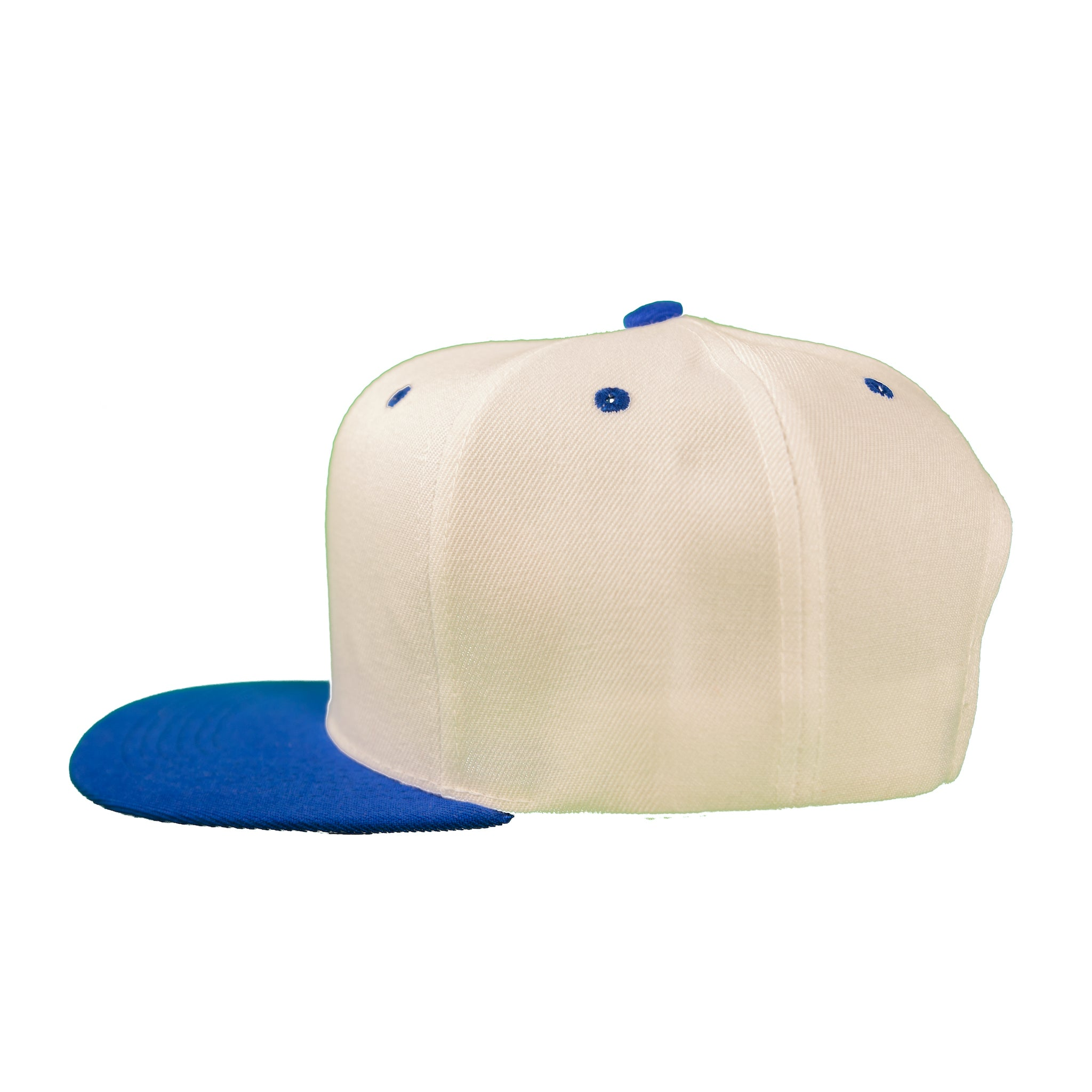 Basic Two-Tone Snap Back in White And Royal