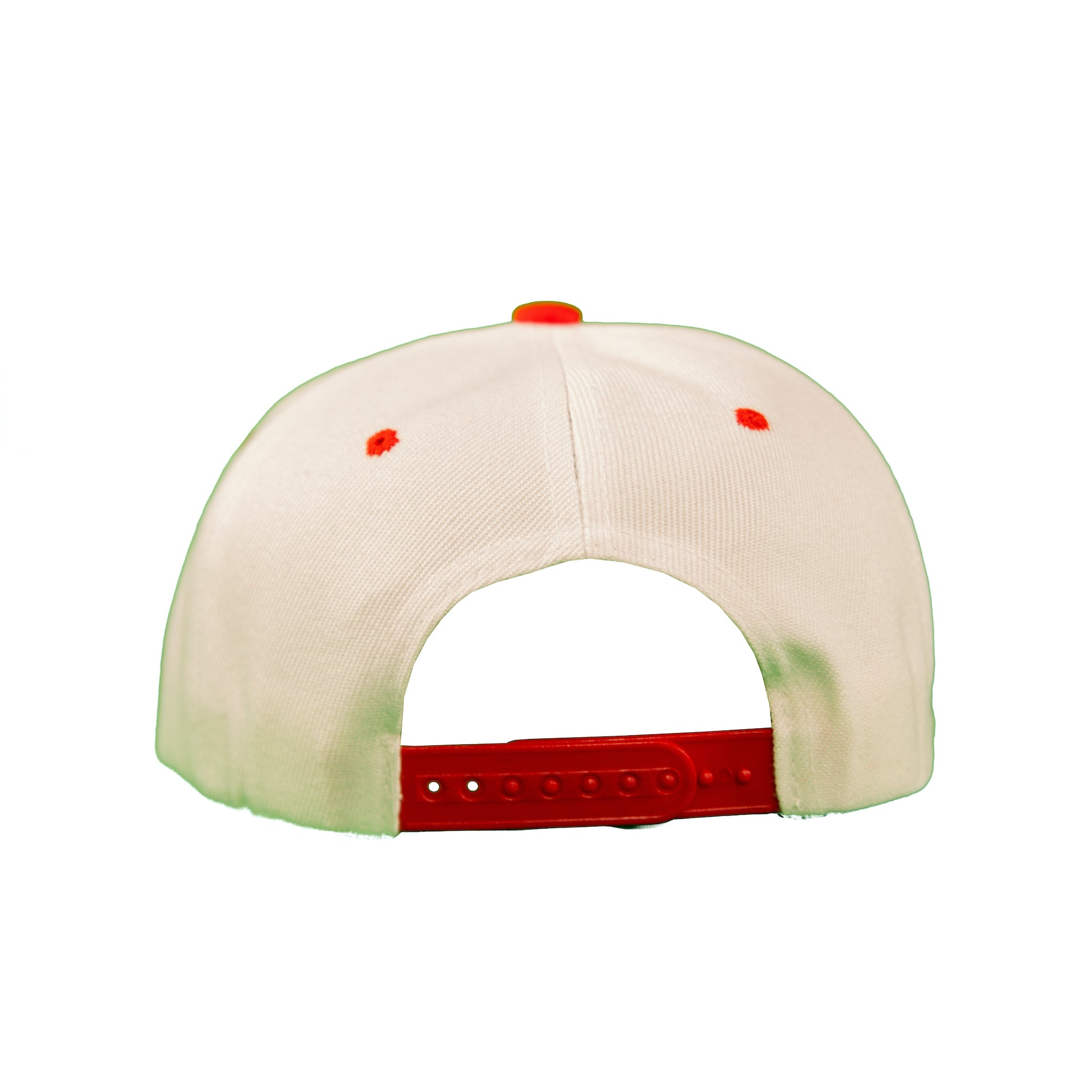 Basic Two-Tone Snap Back in White And Red