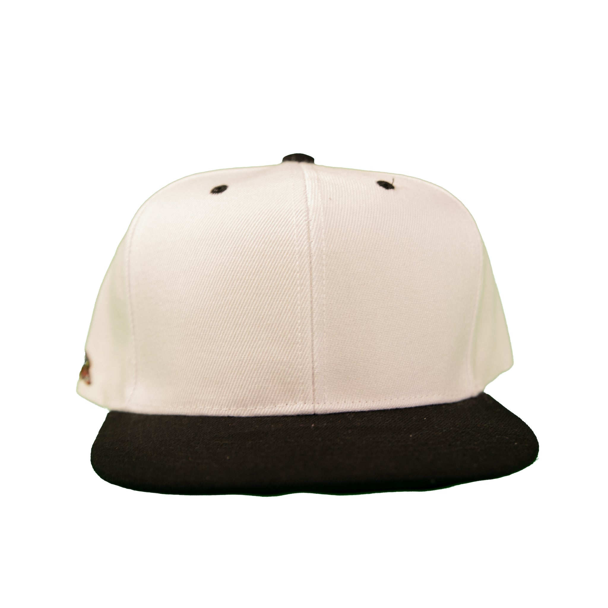 Basic Two-Tone Snap Back in White And Black
