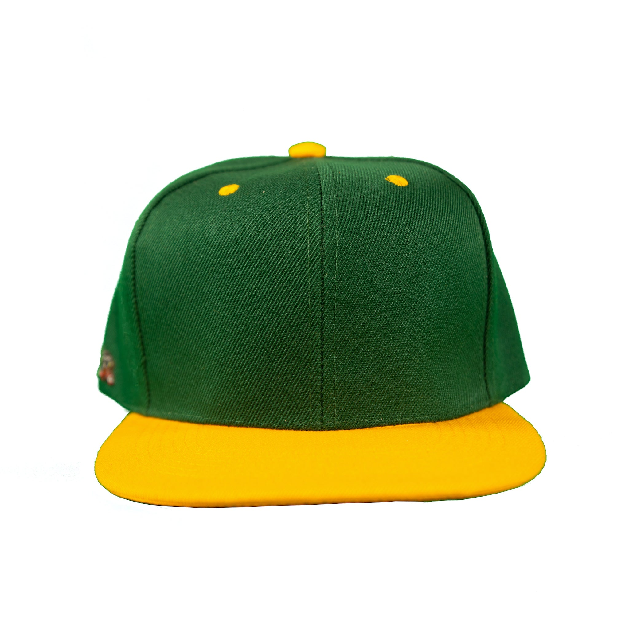 Basic Two-Tone Snap Back in Green And Gold