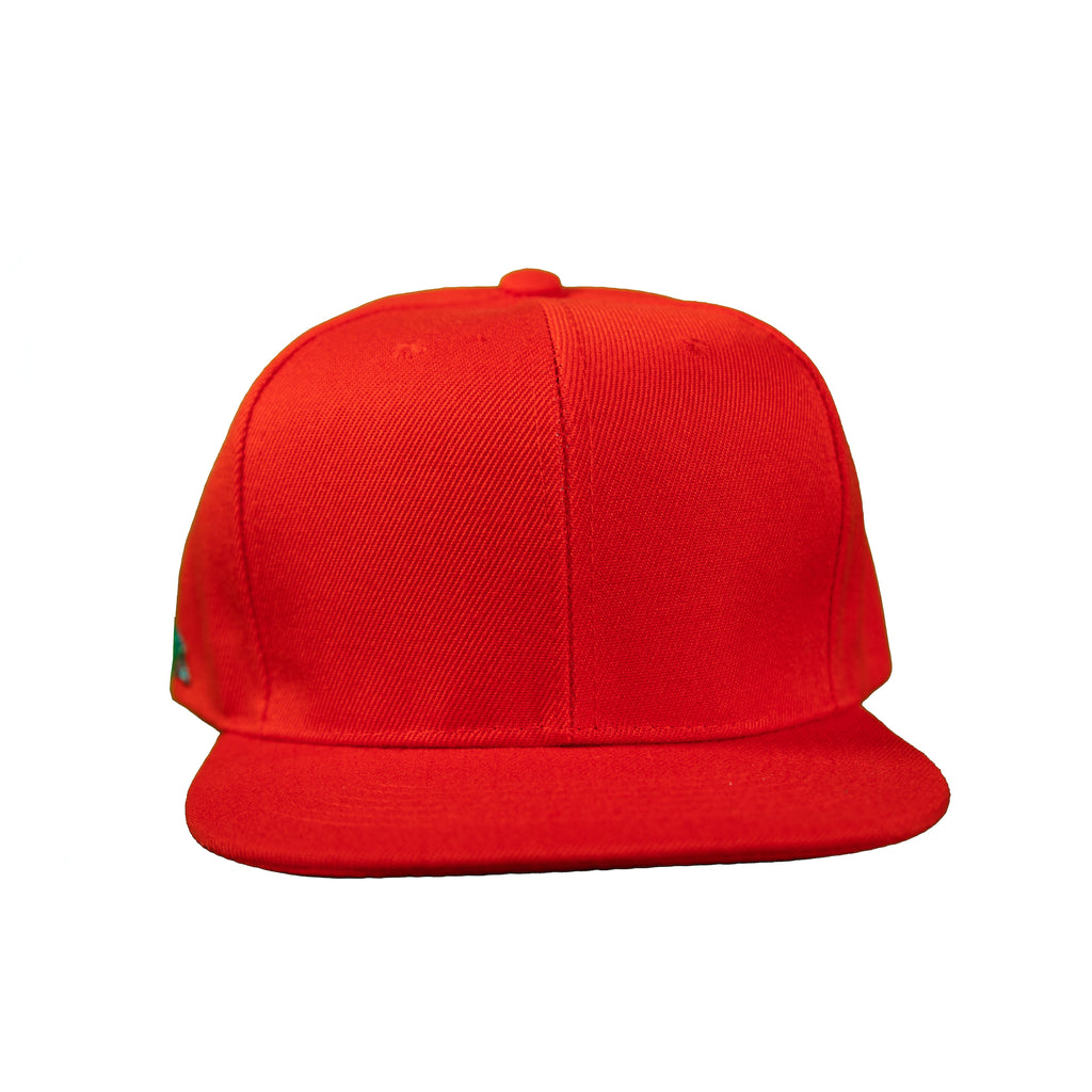 Basic Solid Snap Back in Red
