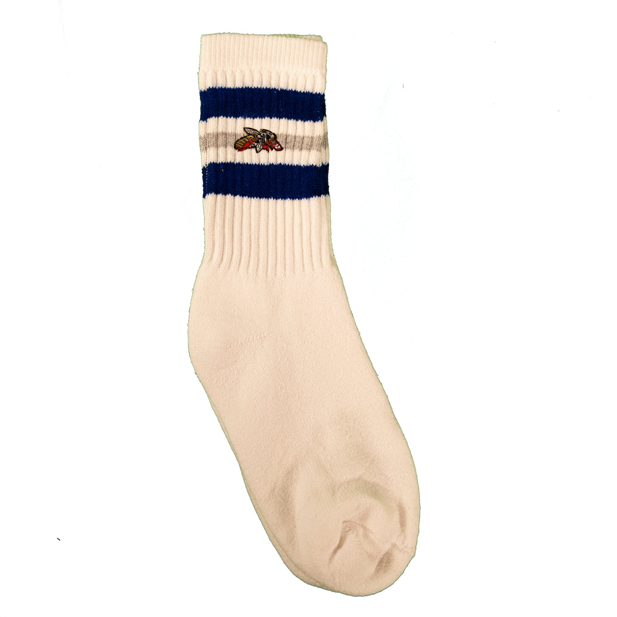 Milk And Honey Classic Tube Socks in Royal and Gray