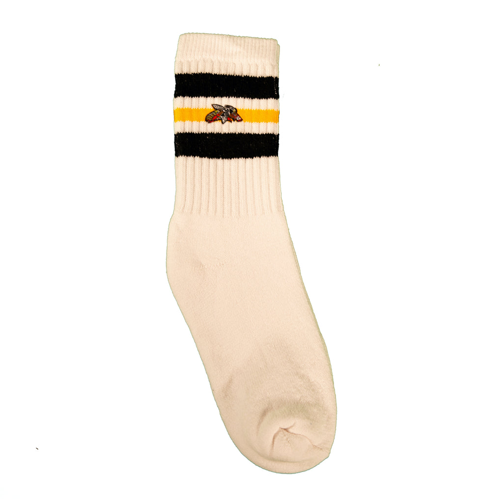 Milk And Honey Classic Tube Socks in Black and Gold