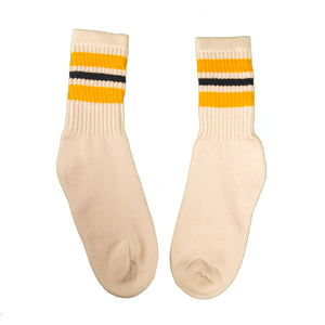 Milk And Honey Classic Tube Socks in Gold and Black