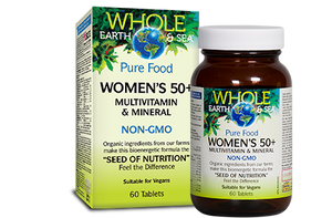 Natural Factors Whole Earth & Sea, Women's 50+ Multivitamin & Mineral