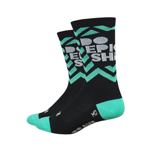 CLEARANCE! Do Epic Shit Socks: Teal on Black (XL only)