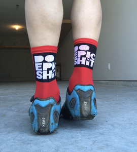 Do Epic Shit Socks: Badass Red