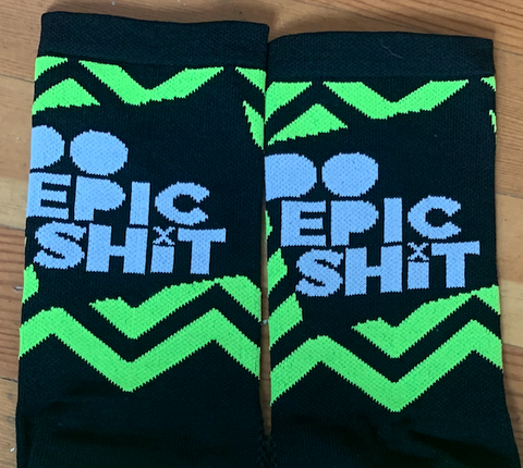 NEW Do Epic Shit Neon Socks