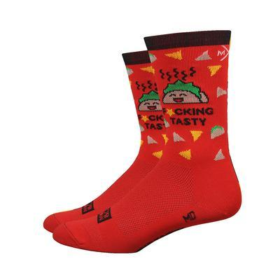 F*cking Tasty Taco Socks - RED