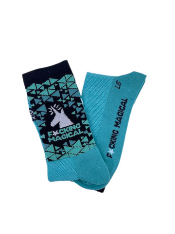 F*cking Magical Unicorn Socks (Teal)
