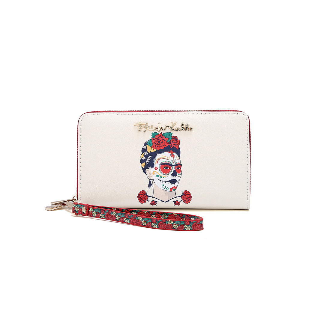 La Catrina Double Zipper Wallet