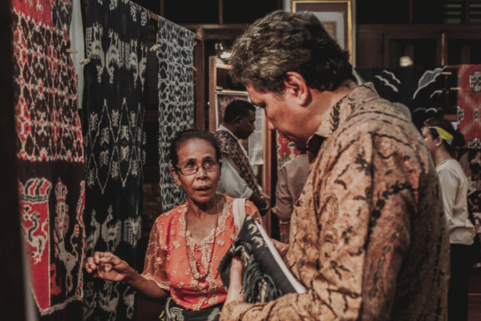 East Sumba's Ikat Woven Exhibition at Museum Bank Mandiri, Jakarta