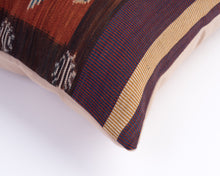 Ikat Woven Cushion - Prawn