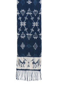 SMALL IKAT - PEACOCK AND STAR