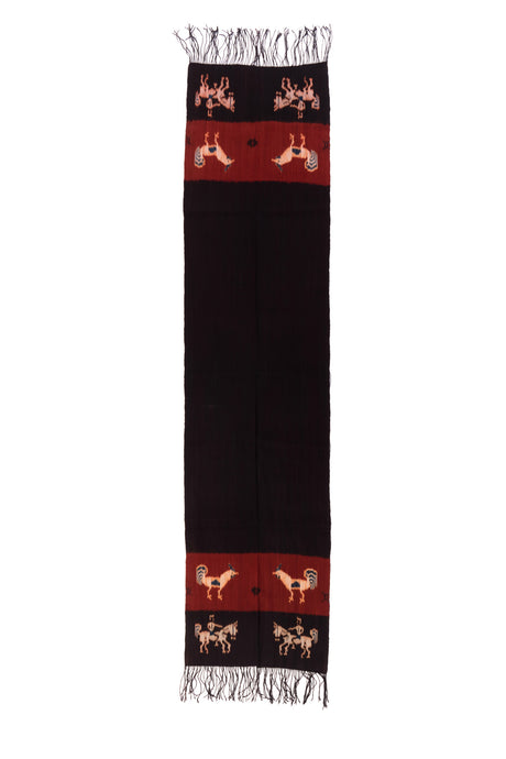 SMALL IKAT - CHICKEN AND HORSE RIDER