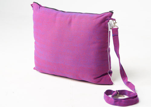 The Best Wearable Travel Pillow and Stow away Blanket purple