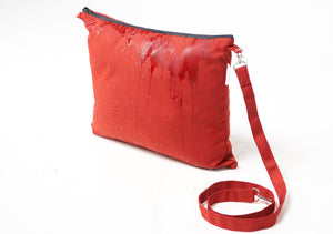 The Best Wearable Travel Pillow and Stow away Blanket Mat Red