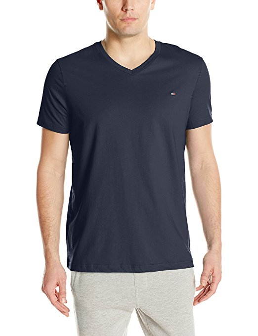 Tommy Hilfiger Men's Core Flag V-Neck Tee - Dark Navy