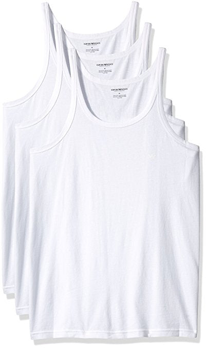 EMPORIO ARMANI PURE COTTON TANK TOP 3-PACK
