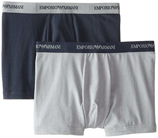 EMPORIO ARMANI BOXER BRIEF 2-PACK - GREY AND MARINE