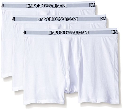 EMPORIO ARMANI COTTON BOXER BRIEFS 3- PACK - WHITE